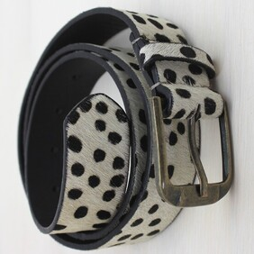 Safari Leather Wide Belt