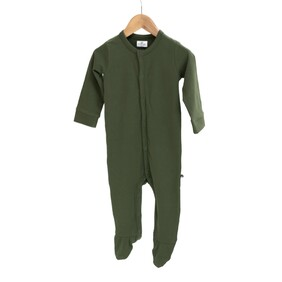 Burrow & Be Essentials Sleep Suit - Pine Size NB