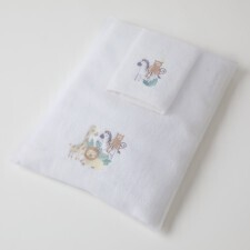 Towel and Facewasher in Organza Bag