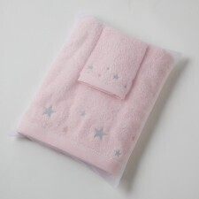 Star Towel and Facewasher in Organza Bag