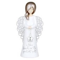 Angel Figurine A True Friend Is The Greatest Gift 125mm