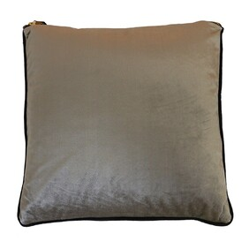 Velvet Piped Pale Grey Cushion