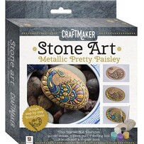 Craft Maker Metallic Mini Rock Kits - Pretty Paisley