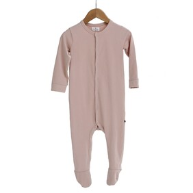 Burrow & Be Essentials Sleep Suit - Dusty Rose Size NB