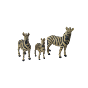 Set of 3 Zebras